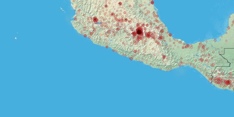 Mexikó térkép